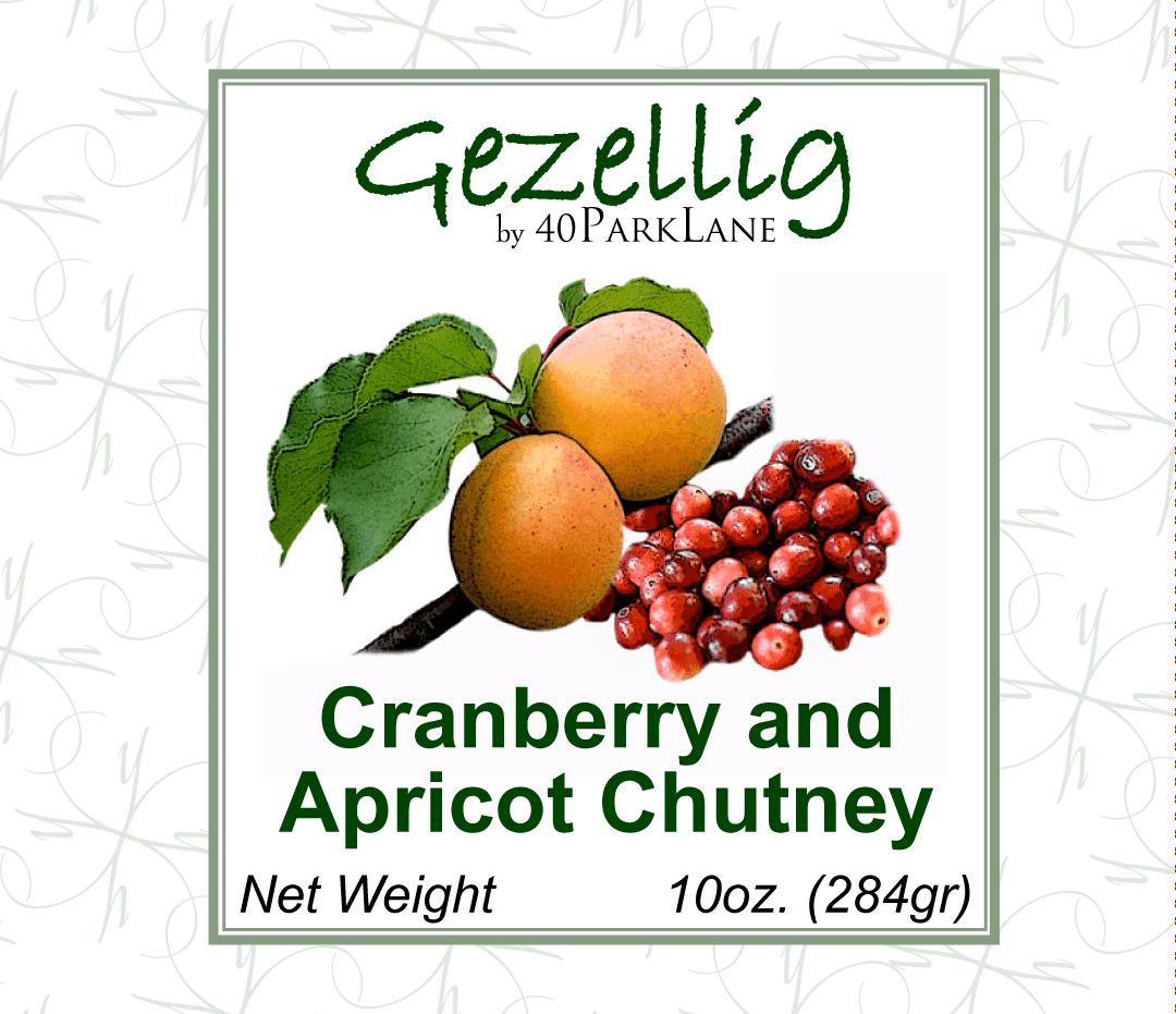 Graphic Design Portfolio - Chutney label - Cranberry and Apricot
