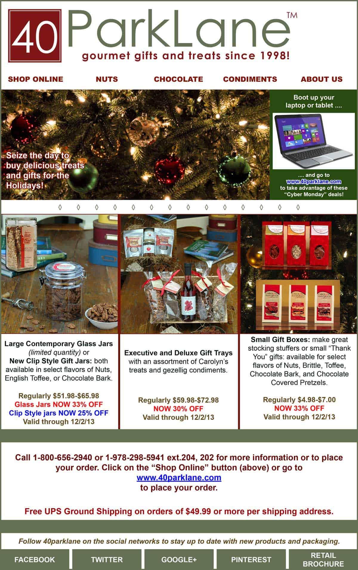 Email Marketing Portfolio - Get Ready for the Holidays - Email Campaign - 40Parklane
