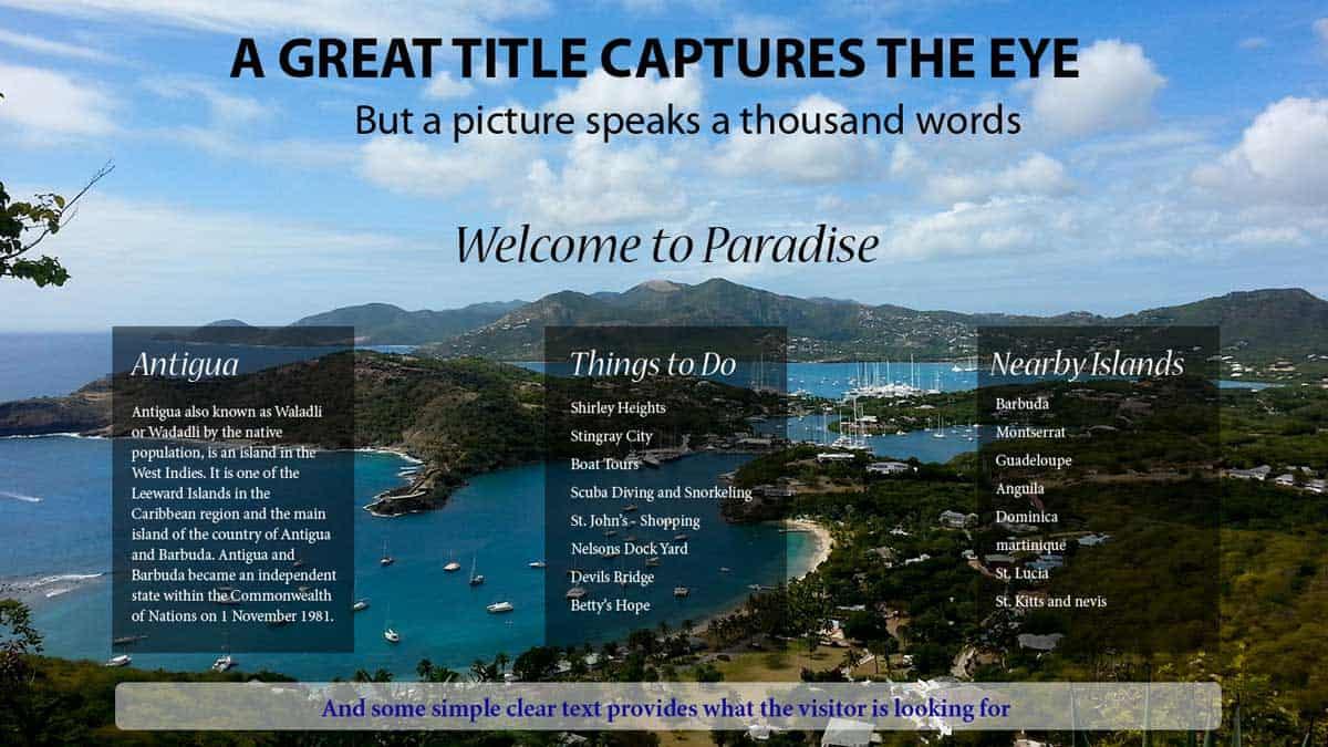 Image Composition - Hans van Putten - Web Page Design - Combine Type with Image