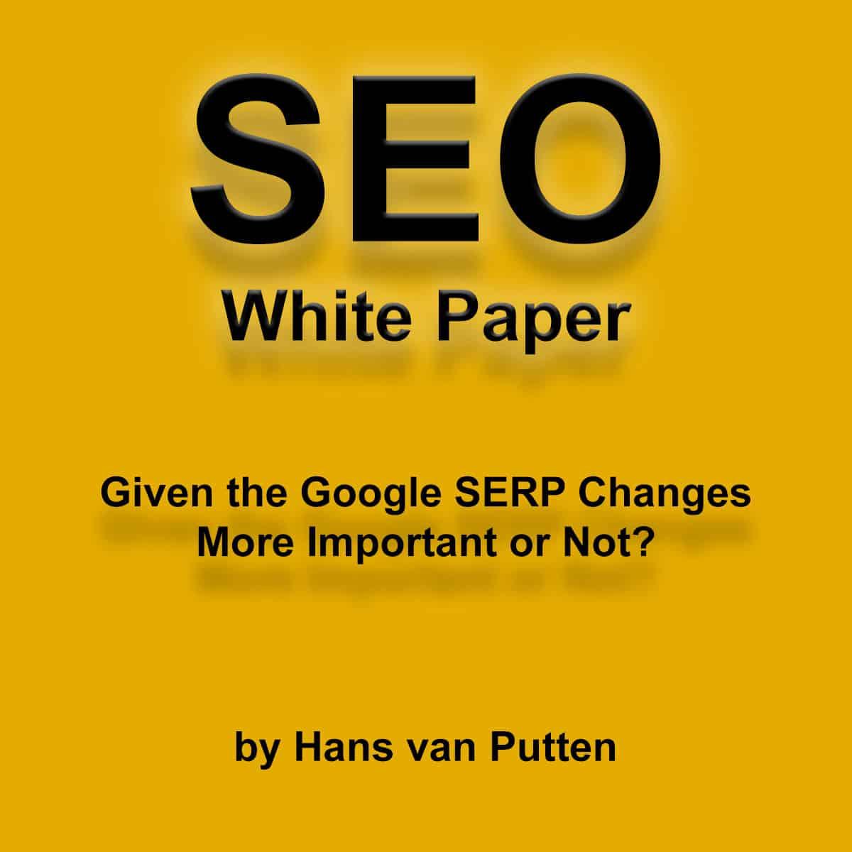 Hans van Putten - Portfolio - SEO White Paper